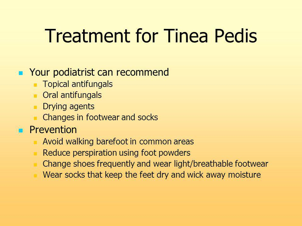 Treatment for Tinea Pedis