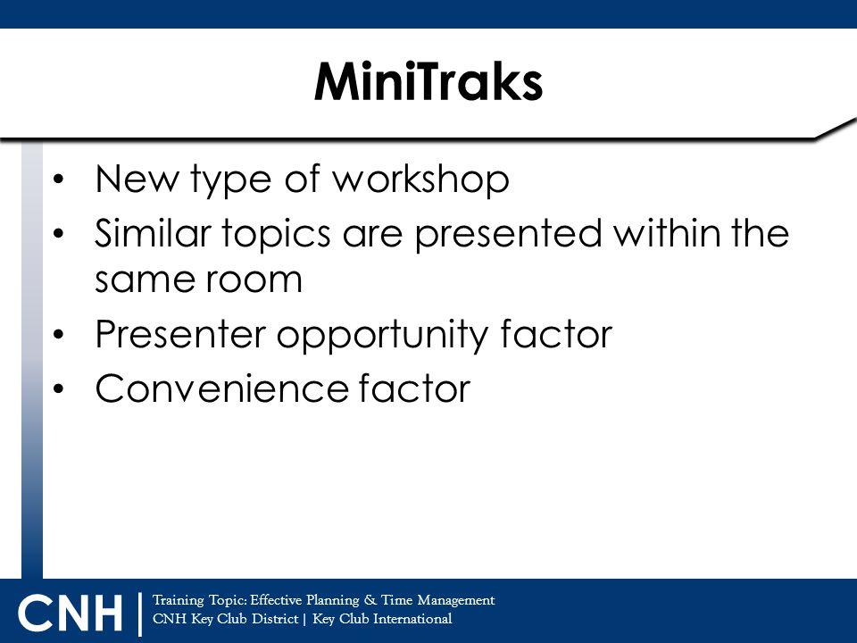 MiniTraks New type of workshop