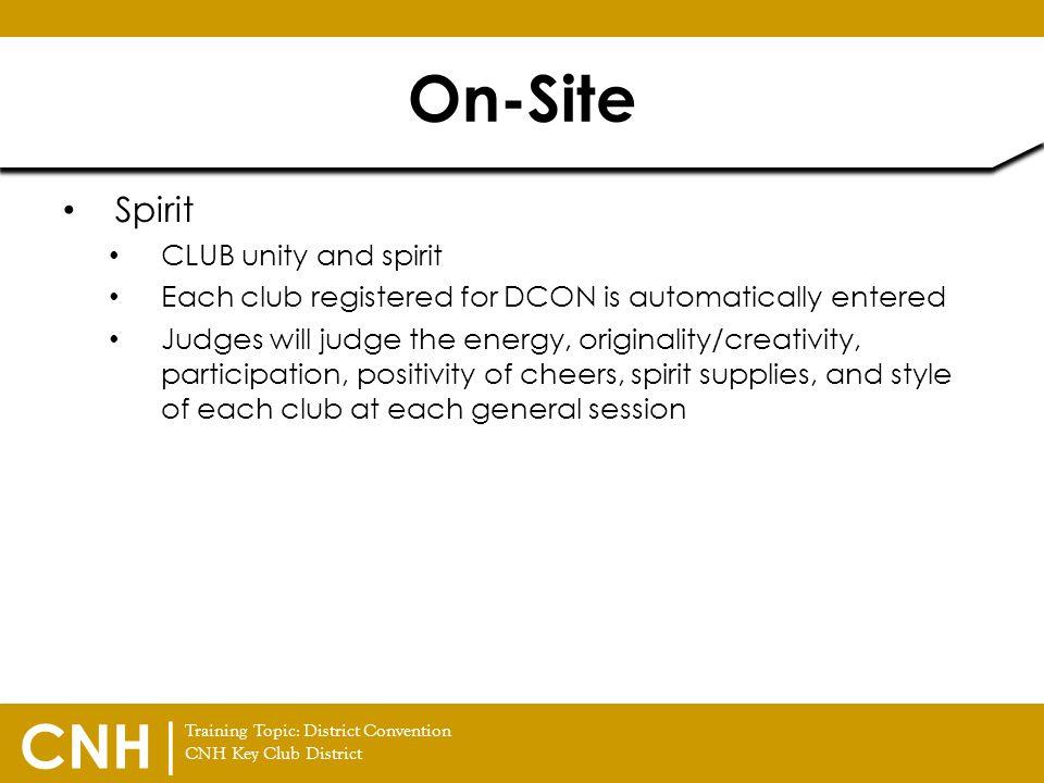 On-Site Spirit CLUB unity and spirit