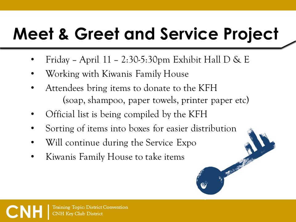Meet & Greet and Service Project