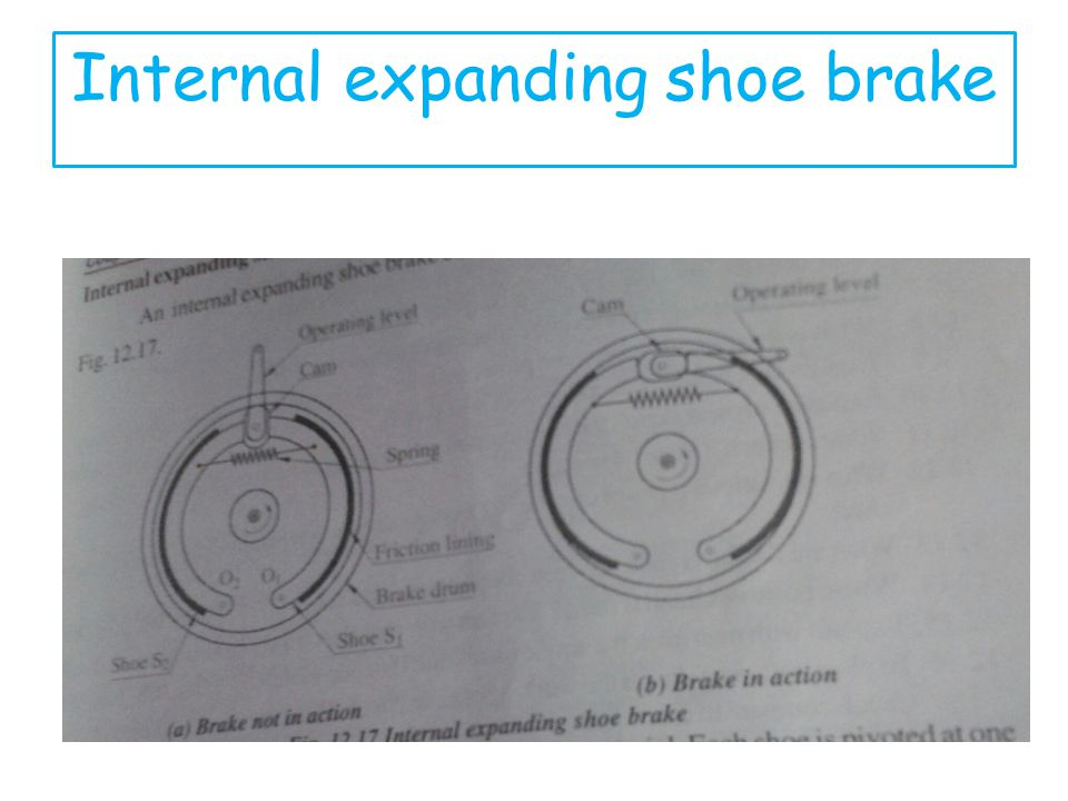 Internal expanding shoe brake