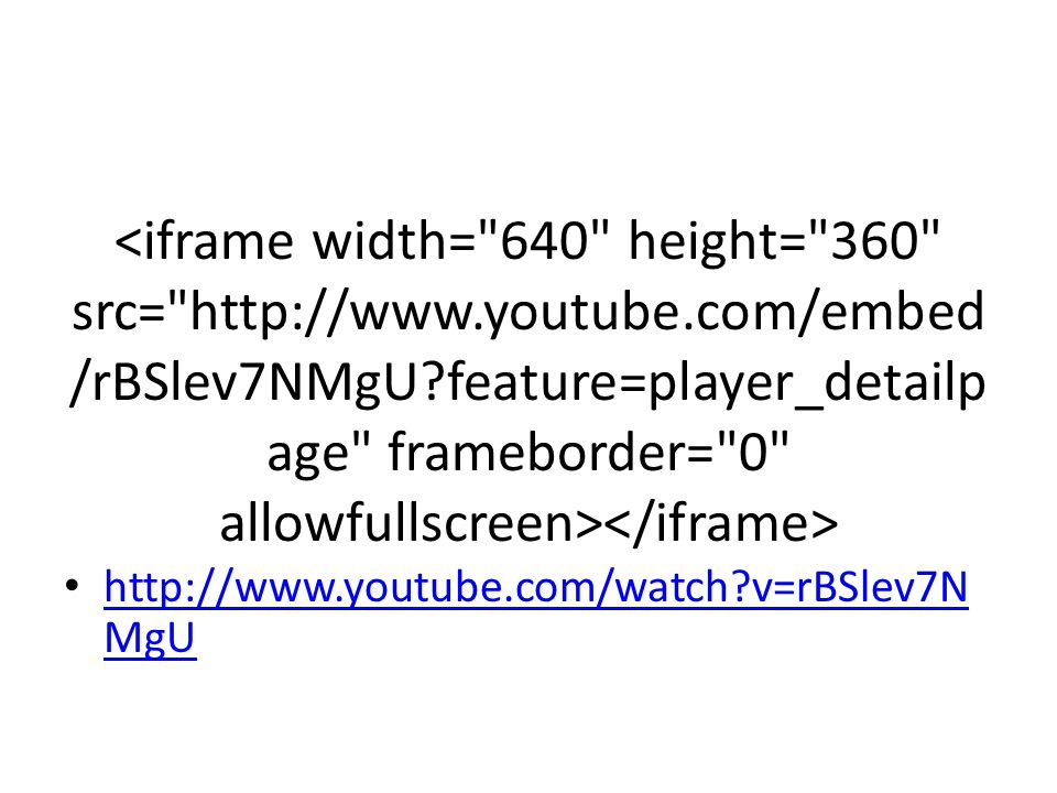 <iframe width= 640 height= 360 src= http://www. youtube