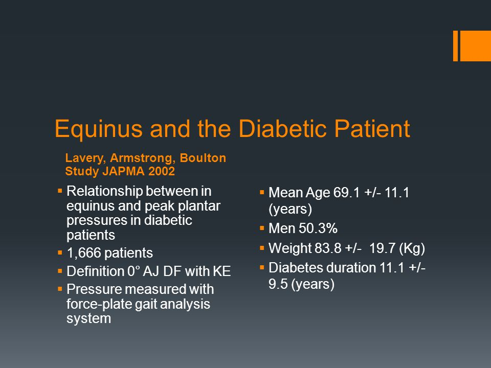 Equinus and the Diabetic Patient