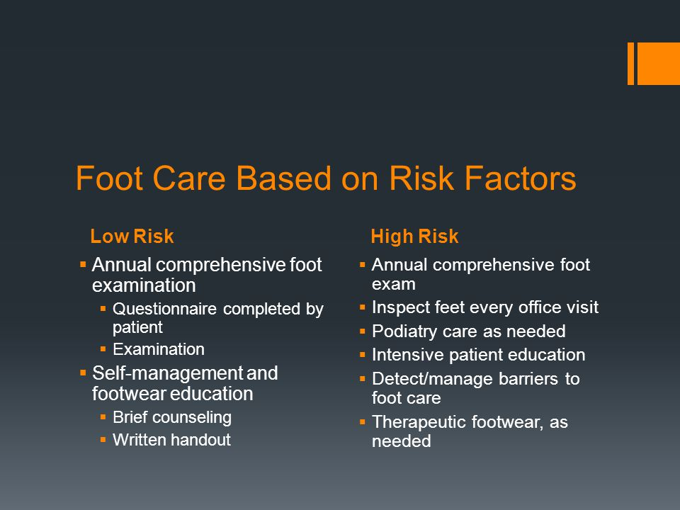 Foot Care Based on Risk Factors