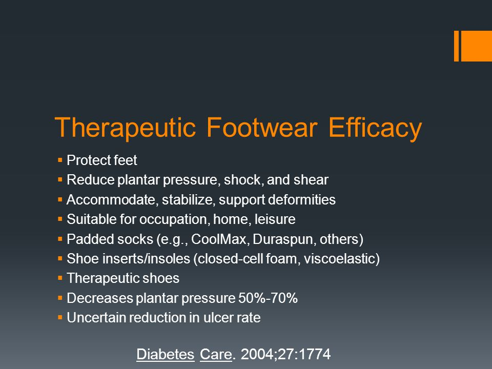 Therapeutic Footwear Efficacy