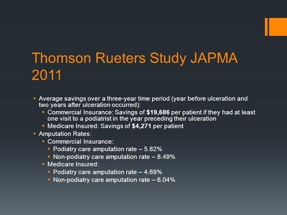 Thomson Rueters Study JAPMA 2011
