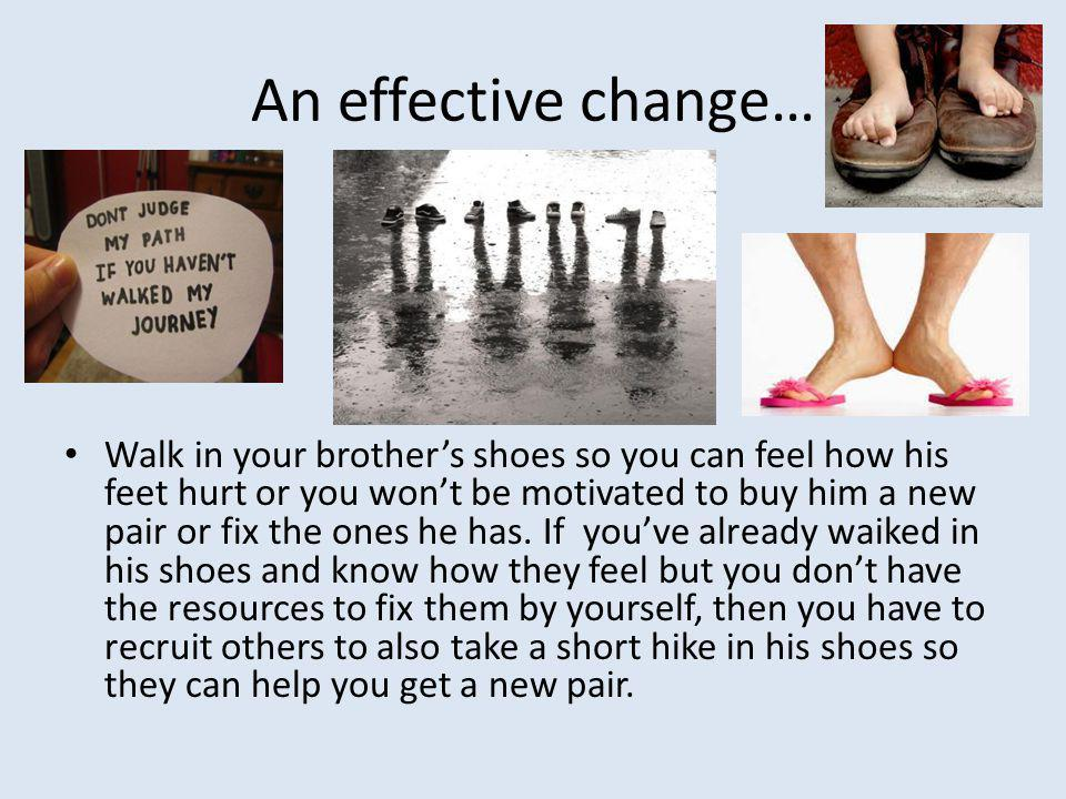 An effective change…