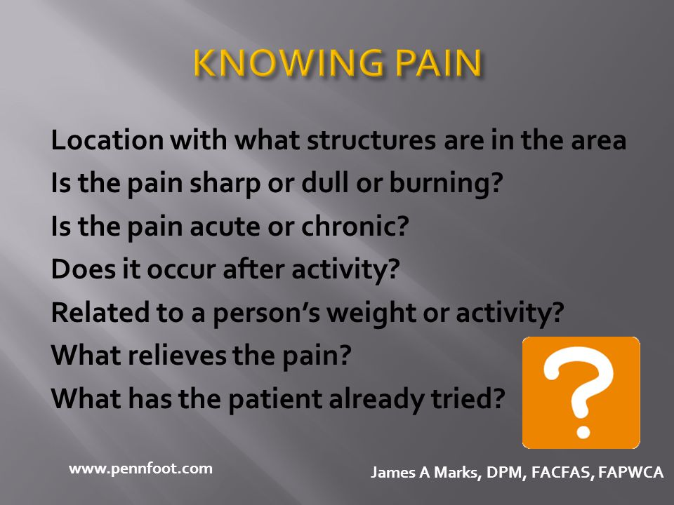 KNOWING PAIN