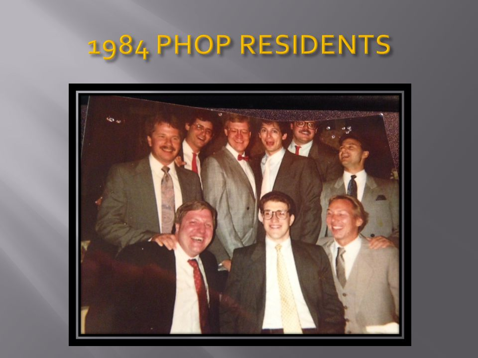 1984 PHOP RESIDENTS