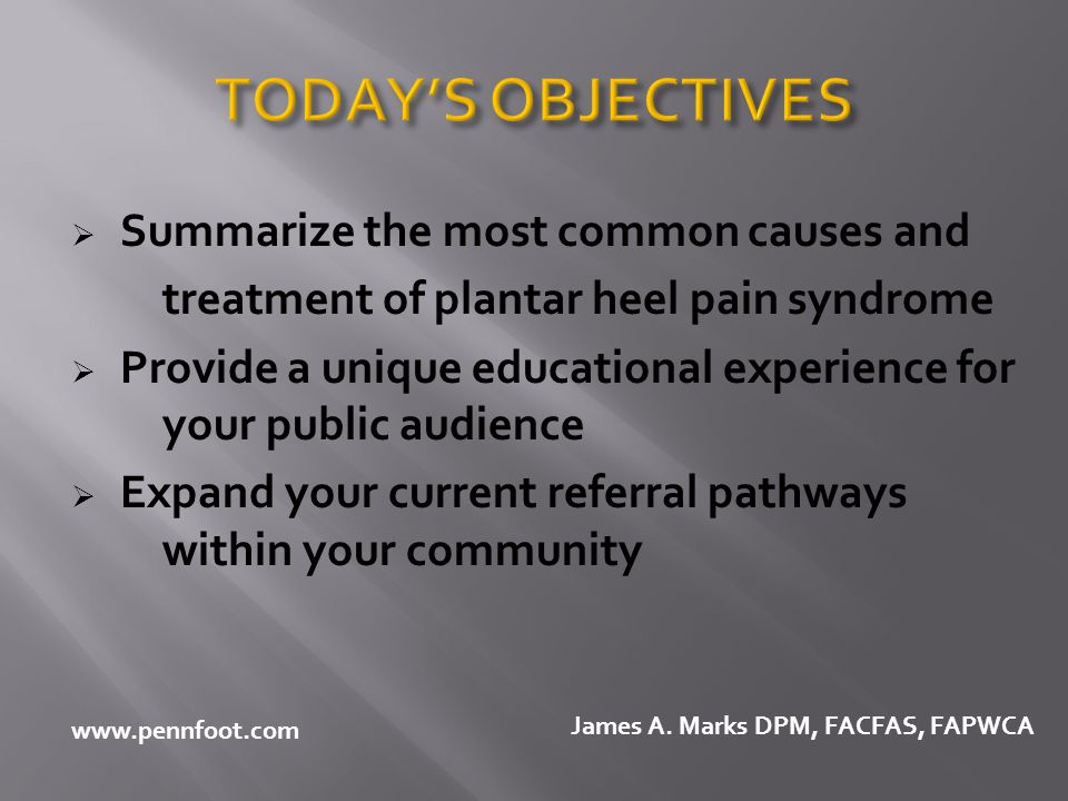 TODAY'S OBJECTIVES Summarize the most common causes and