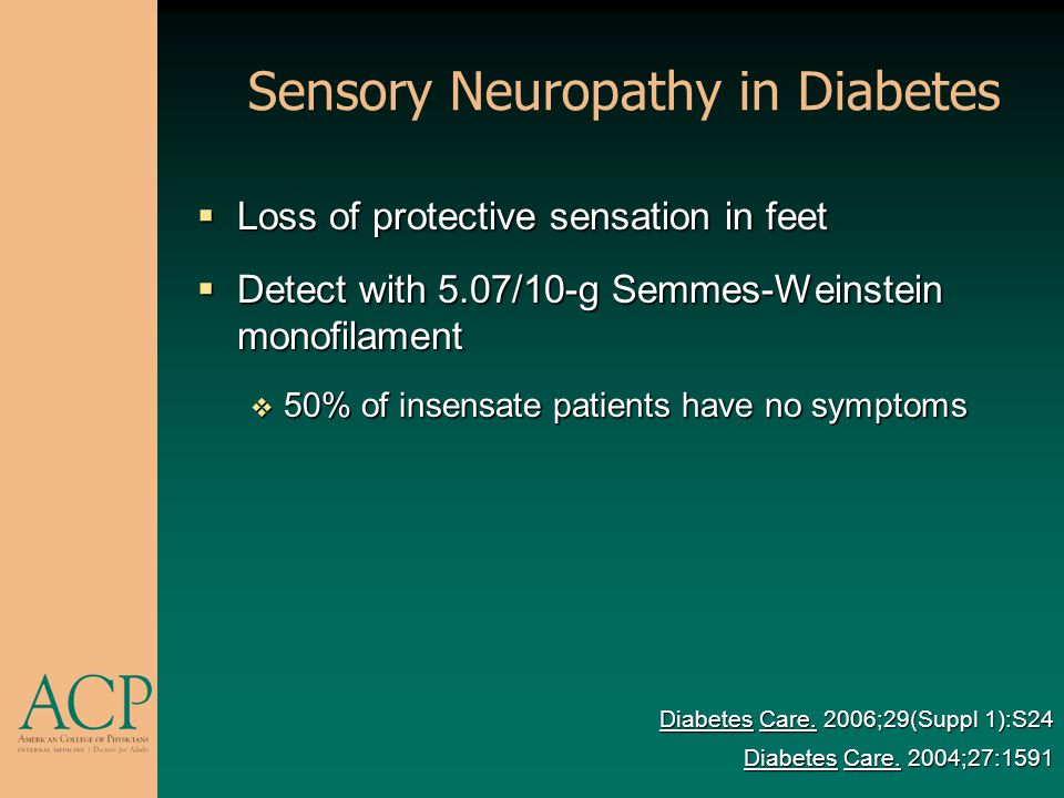 Sensory Neuropathy in Diabetes