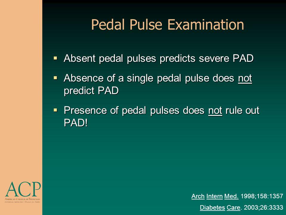Pedal Pulse Examination