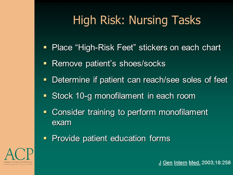 High Risk: Nursing Tasks