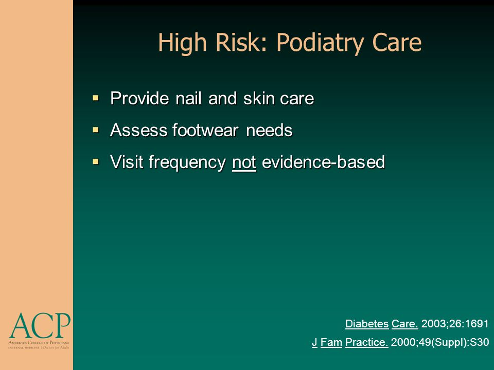 High Risk: Podiatry Care