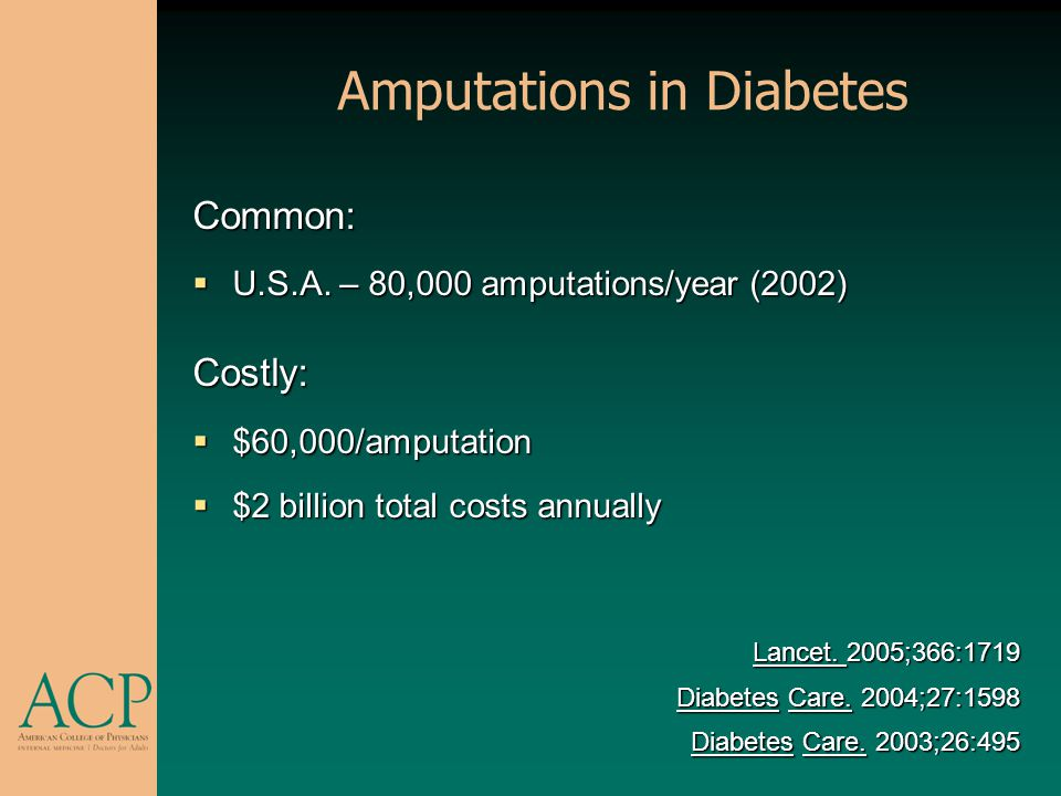 Amputations in Diabetes