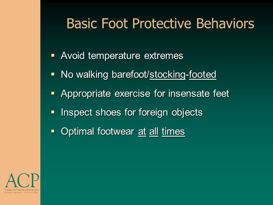 Basic Foot Protective Behaviors