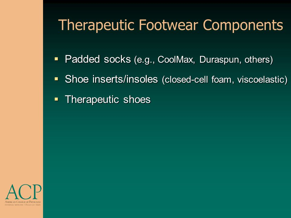 Therapeutic Footwear Components