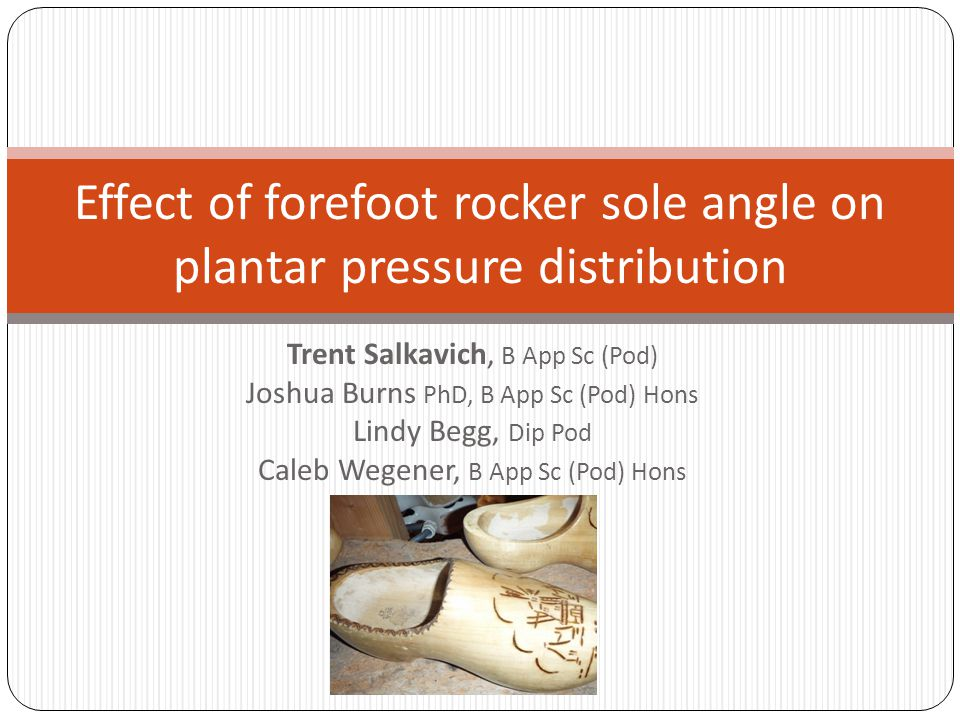 Effect of forefoot rocker sole angle on plantar pressure distribution