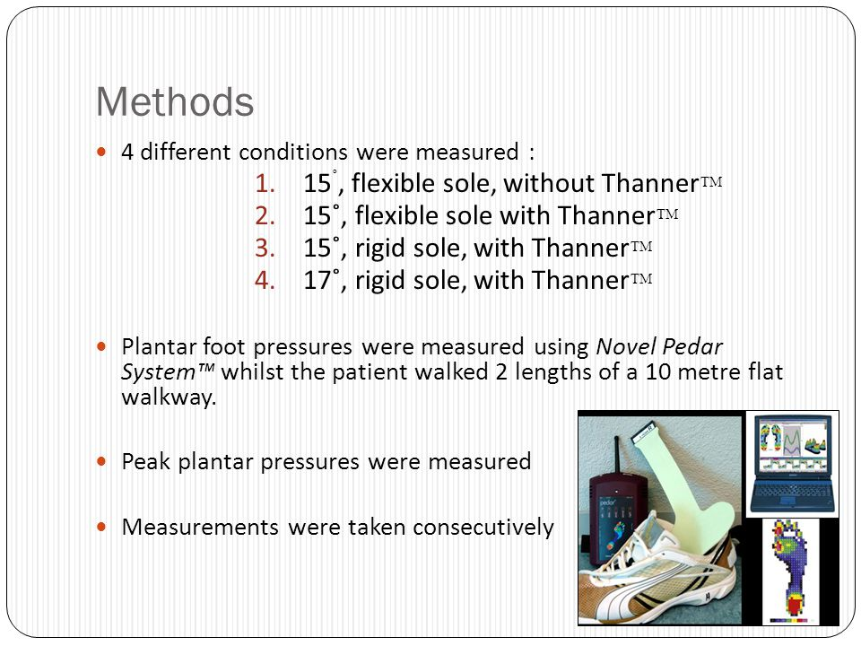 Methods 15˚, flexible sole, without Thanner™