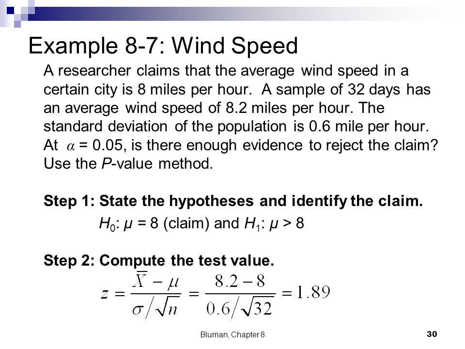 Example 8-7: Wind Speed