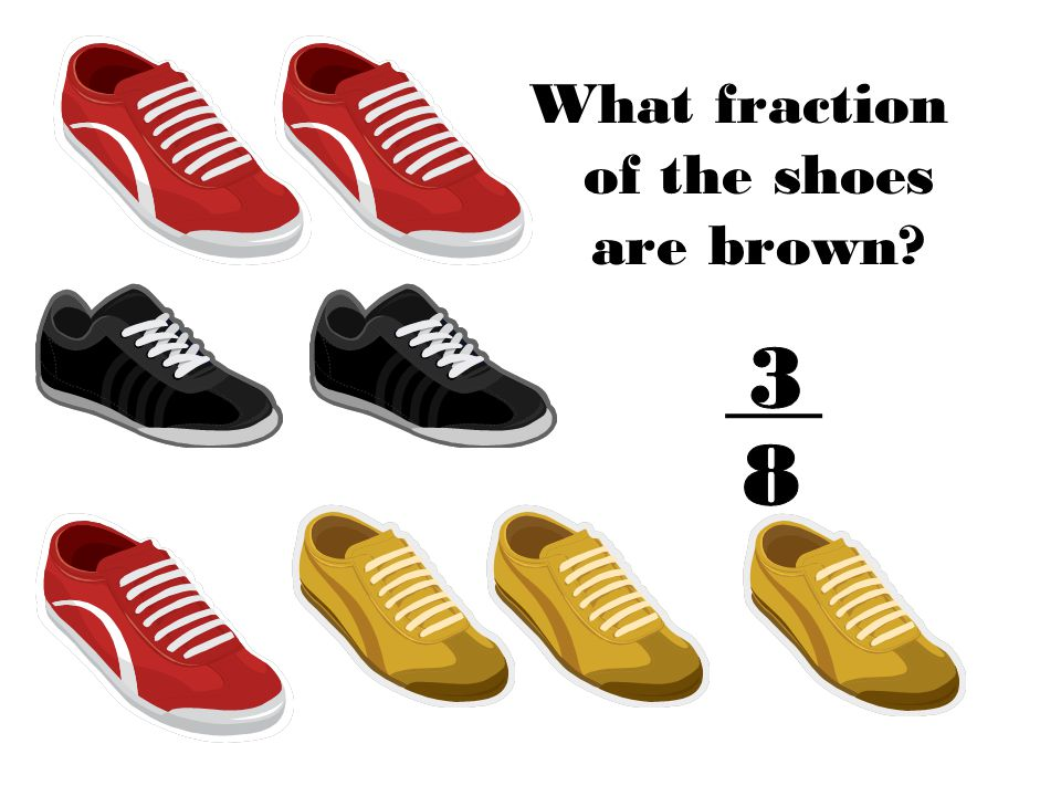 What fraction of the shoes are brown