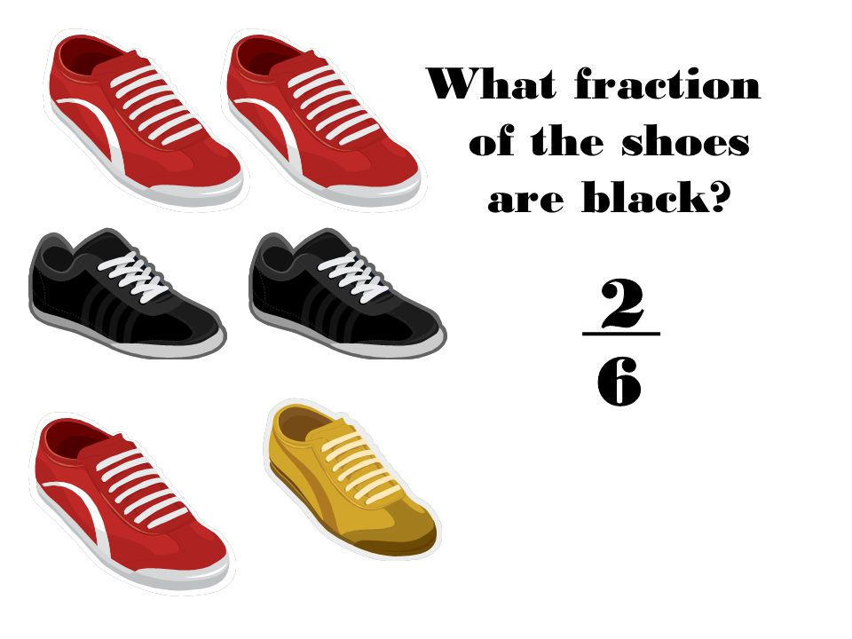 What fraction of the shoes are black