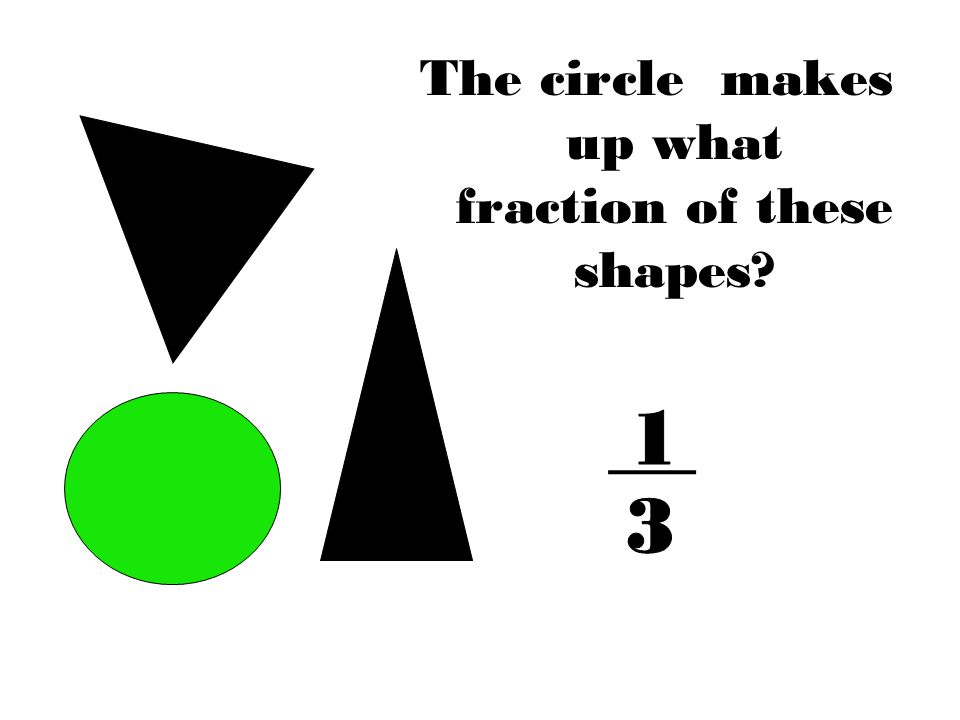 The circle makes up what fraction of these shapes