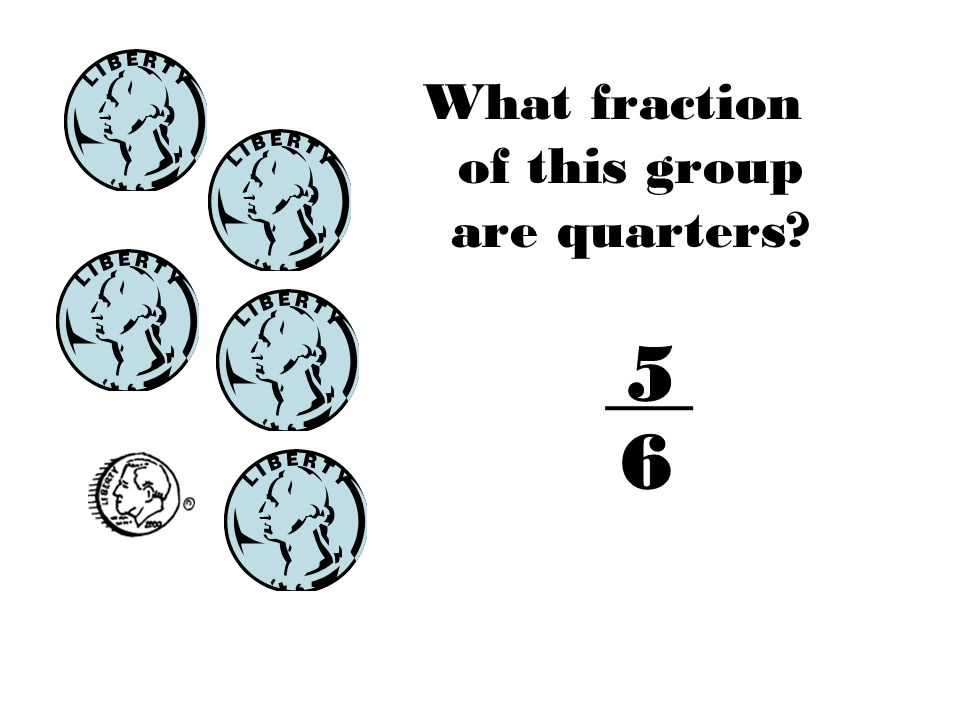 What fraction of this group are quarters