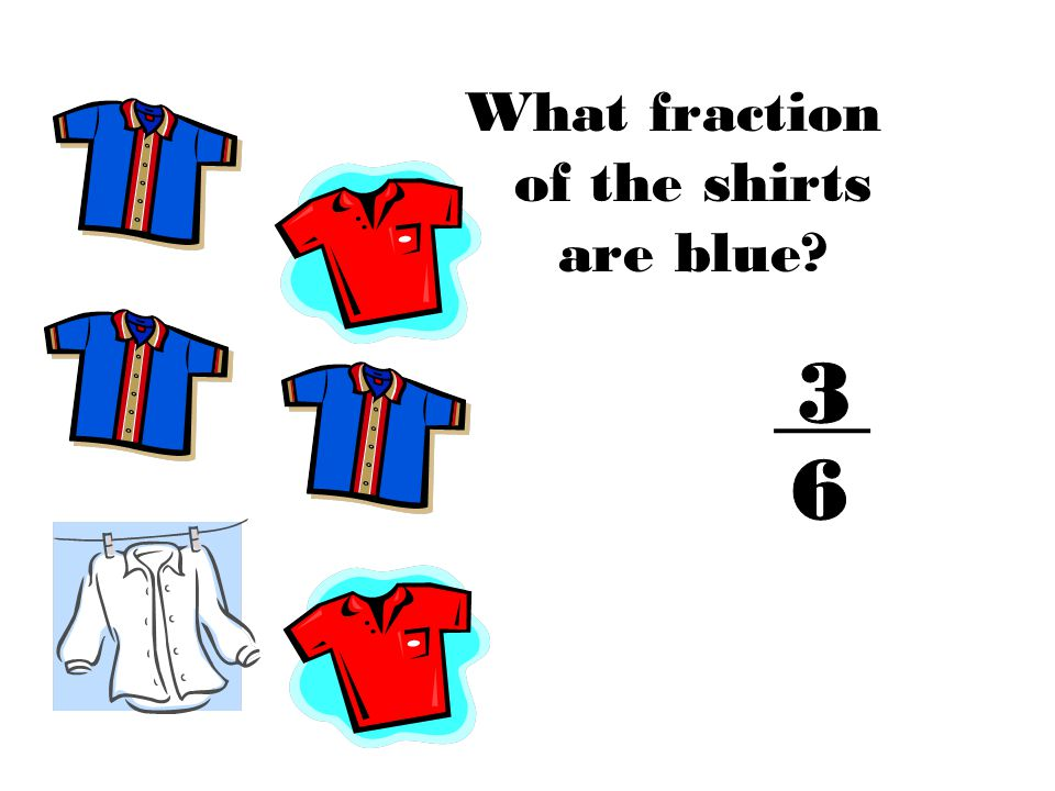 What fraction of the shirts are blue