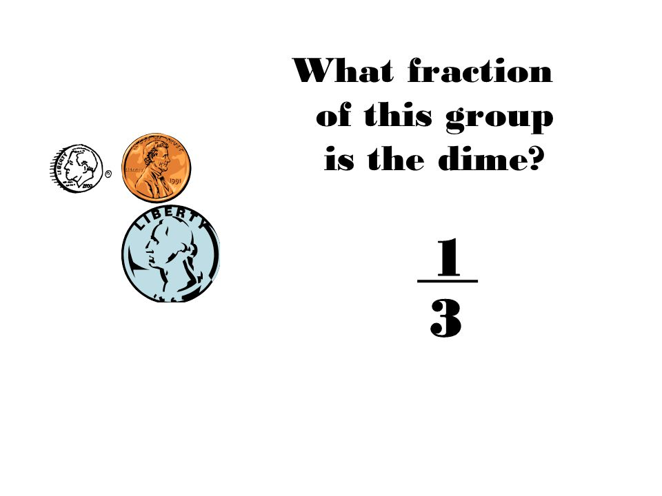 What fraction of this group is the dime