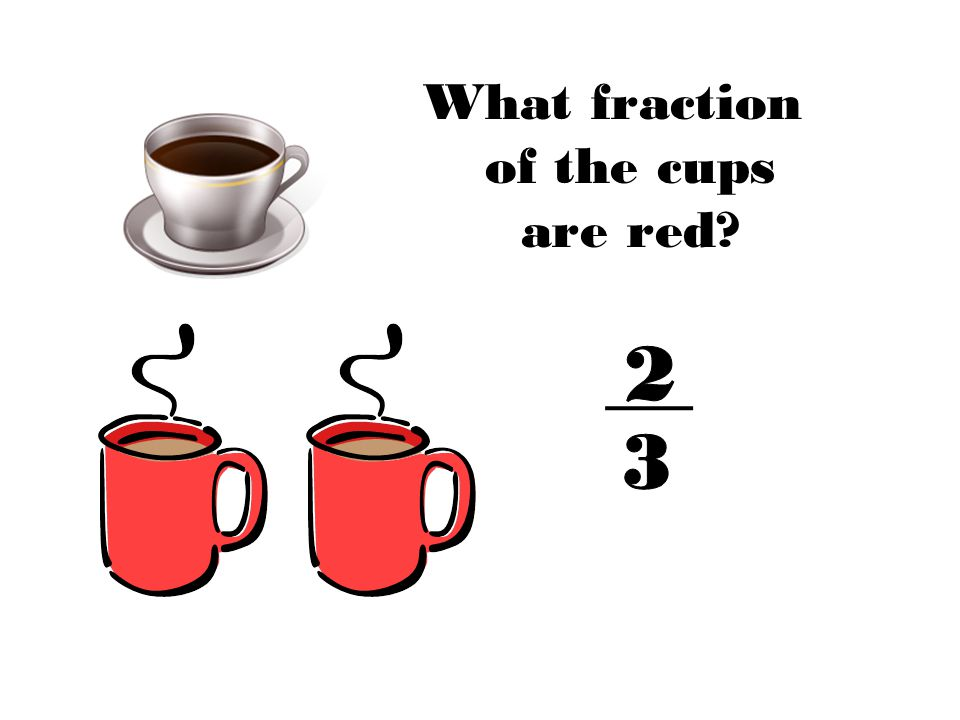 What fraction of the cups are red