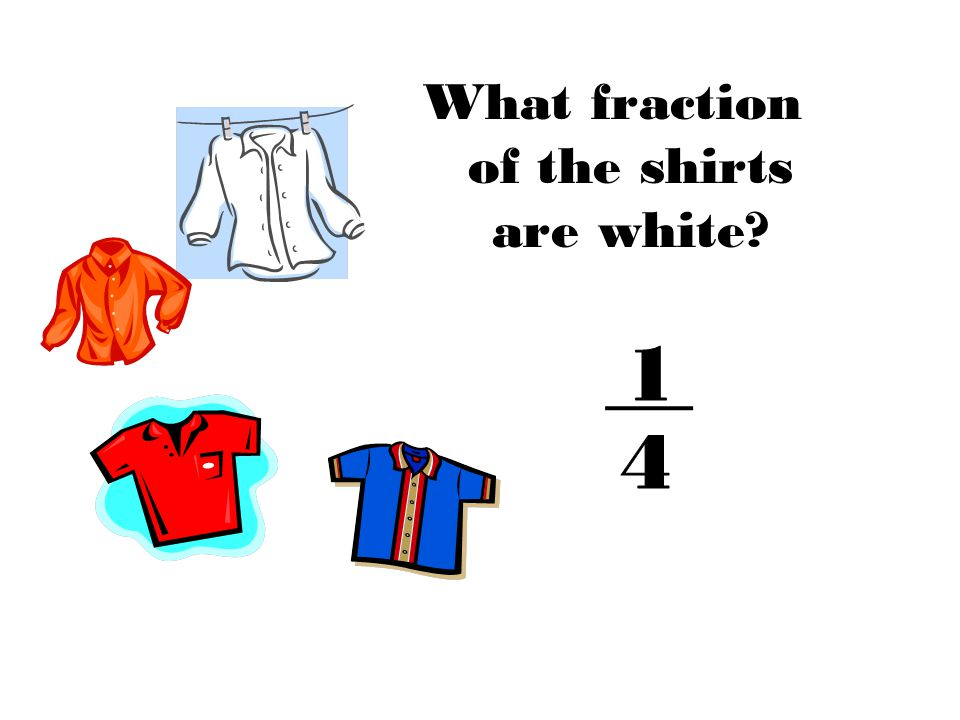 What fraction of the shirts are white