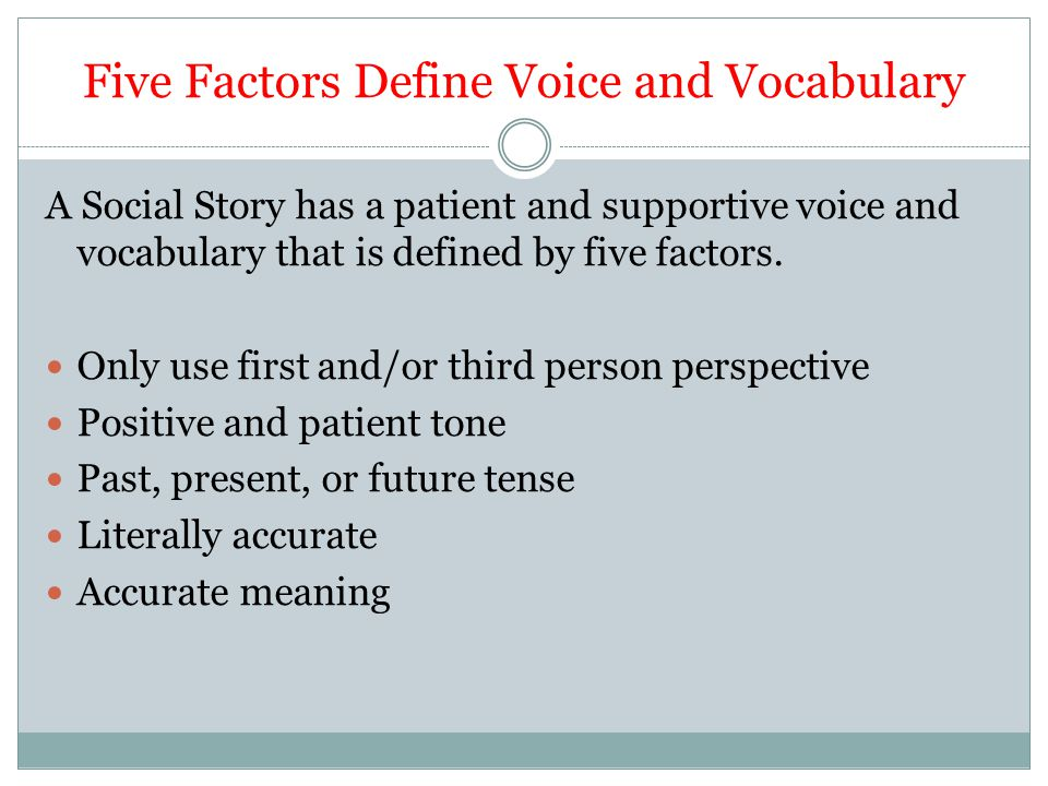 Five Factors Define Voice and Vocabulary