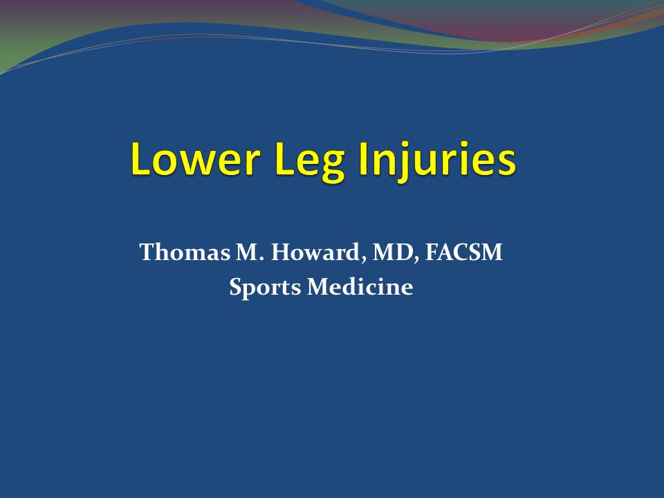 Thomas M. Howard, MD, FACSM Sports Medicine