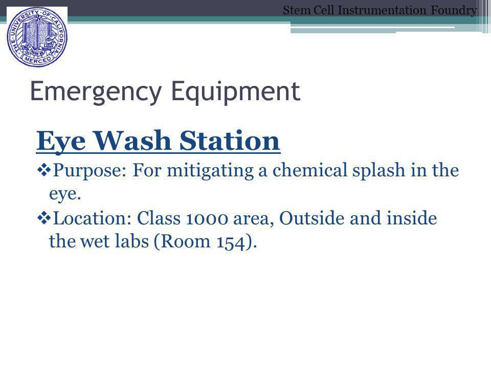 Emergency Equipment Eye Wash Station