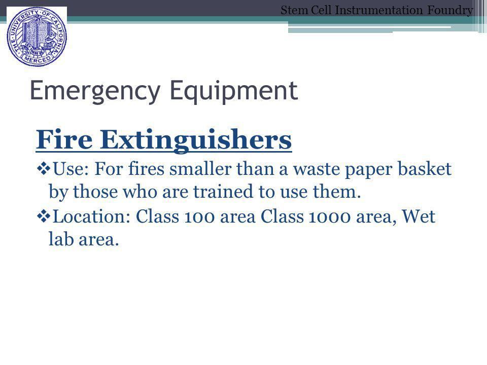 Emergency Equipment Fire Extinguishers