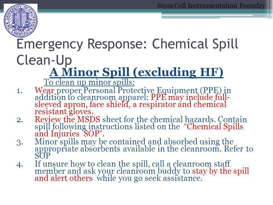 Emergency Response: Chemical Spill Clean-Up