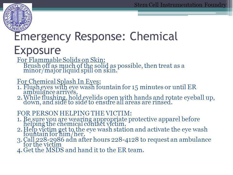 Emergency Response: Chemical Exposure