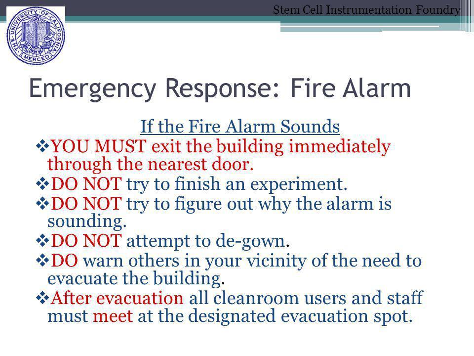 Emergency Response: Fire Alarm