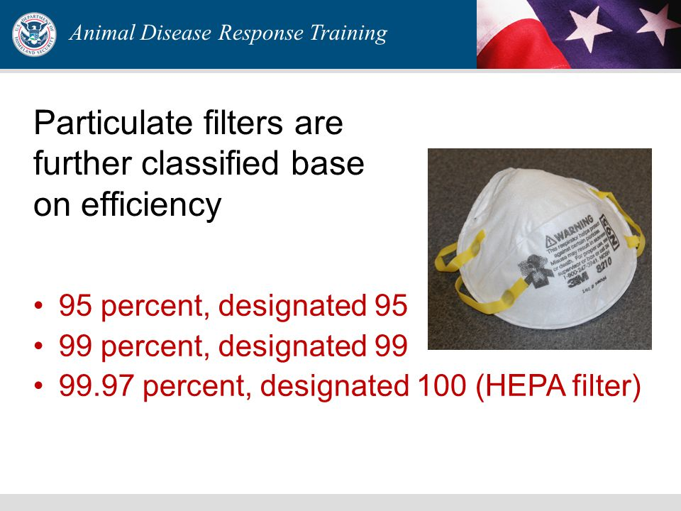 Nine categories of particulate respirators