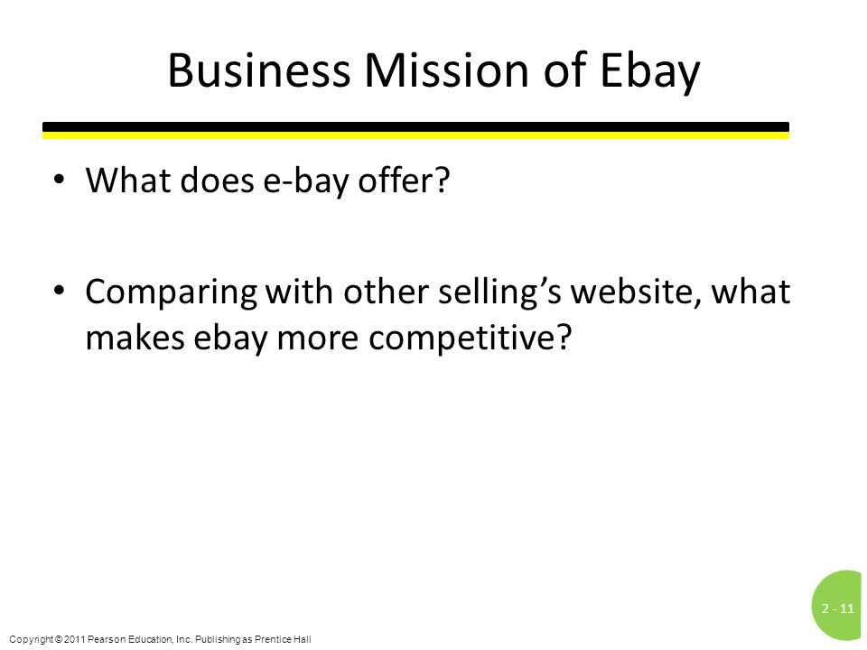 Business Mission of Ebay