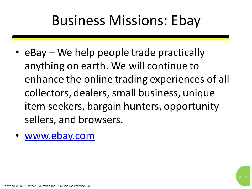 Business Missions: Ebay