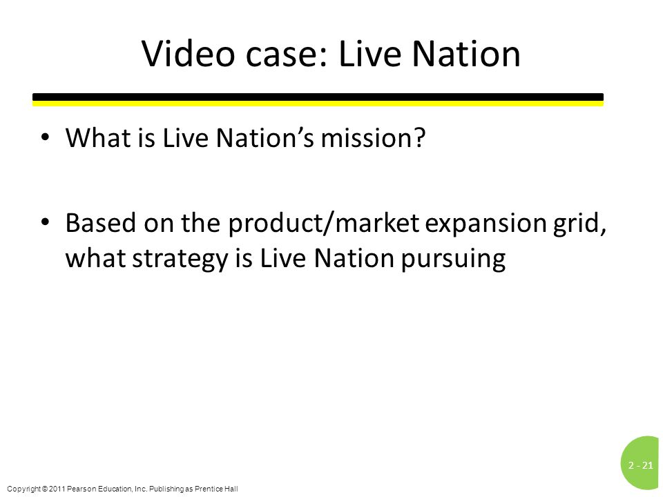 Video case: Live Nation