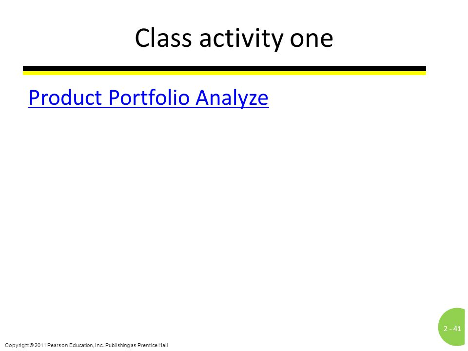 Class activity one Product Portfolio Analyze