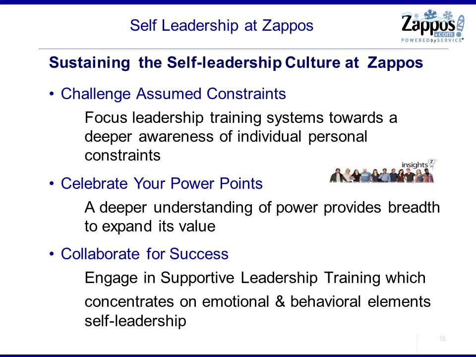 Self Leadership at Zappos
