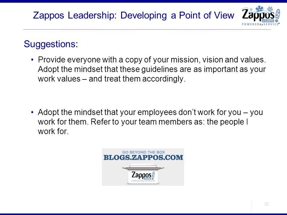 Zappos Leadership: Developing a Point of View
