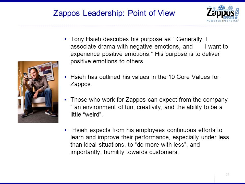 Zappos Leadership: Point of View