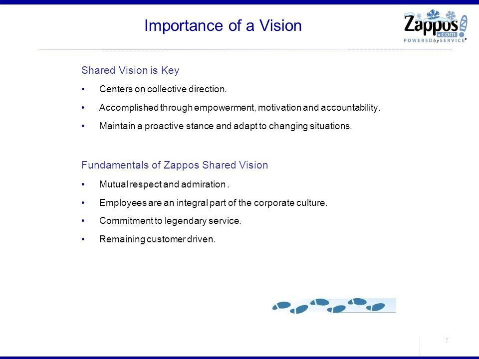Importance of a Vision Shared Vision is Key