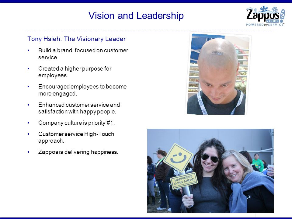 Vision and Leadership Tony Hsieh: The Visionary Leader