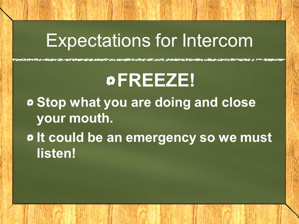 Expectations for Intercom